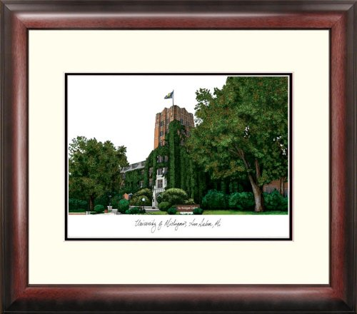 Campus Images NCAA Michigan Wolverines Alumnus Gerahmter Lithograph