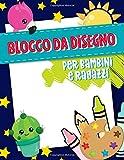 Blocco da disegno per bambini e ragazzi: 100 pagine per allenarsi a disegnare animali, forme, lettere e molto altro