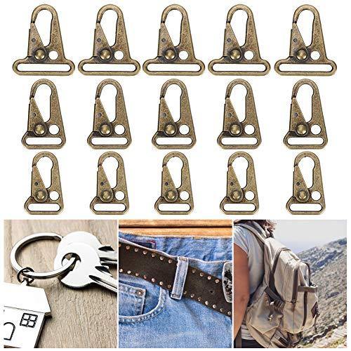 Zhjvihx Clip de gatillo, Ganchos para eslingas, mosquetón para Exteriores 15 Piezas Cinturones de Falda de Mezclilla Manualidades para Hacer Bolsos Collares de Perro