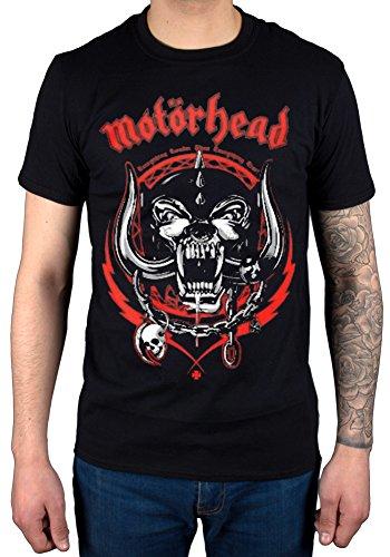 Official Motorhead Lightning Wreath Red Pig T-shirt Rock Band Overkill Music
