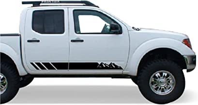 Bubbles Designs 2X Decal Sticker Vinyl Side Stripes Compatible with Nissan Frontier Navara 2004-2017