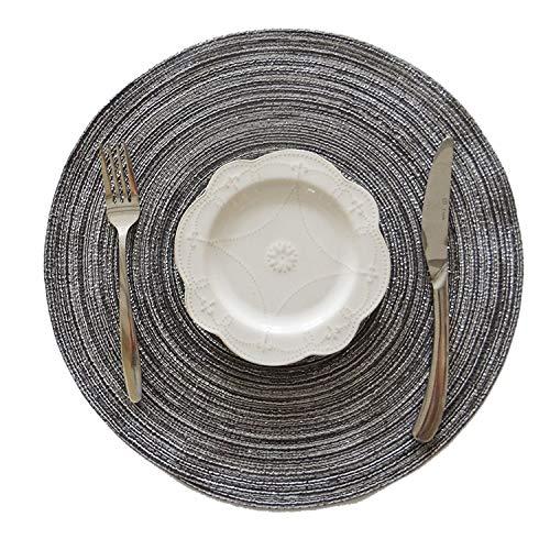 KEKEYANG Coaster la Estera de Tabla for la Tabla de Cocina de algodón de Lino cojín del Aislamiento Diseño Redondo sólido manteles no Slip Mesa de Comedor Decoración Antideslizante