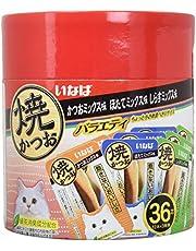 いなば 猫用おやつ 焼かつお 成猫用 バラエティ 36本入