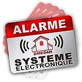 Autocollant Alarme dissuasifs Stickers Alarme sécurité Haute qualité Apparence en Inoxydable...