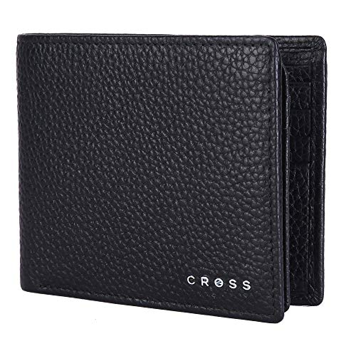 Cross Black Men's Wallet Stylish Genuine Leather Wallets for Men Latest Gents Purse with Card Holder Compartment (AC1288799_3-1)