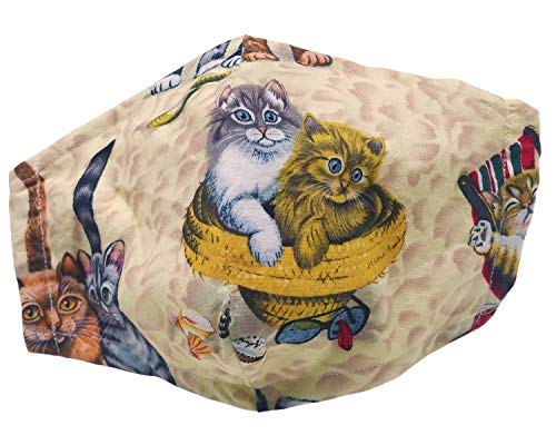 God Rocks® Cats on Beach Face Mask | Fitted Face Covering | Reusable | Washable
