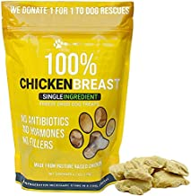 Max and Neo Freeze Dried Chicken Breast Dog Treats - Single Ingredient, Pasture Raised, Antibiotic Free, Human Grade Chicken Grown in The USA - We Donate 1 for 1 to Dog Rescues for Every Product Sold