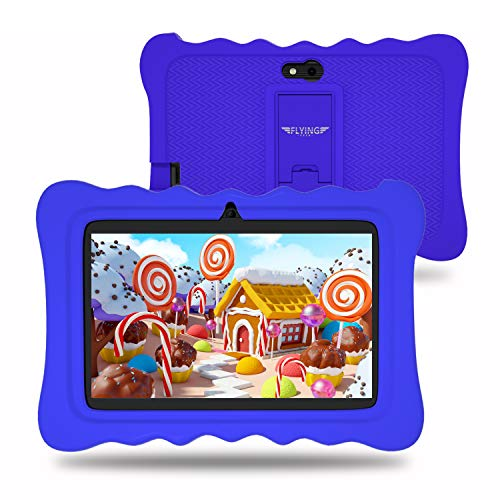 7 inch Kids Tablets Android 9.0 Tablet,2GB RAM 16GB ROM, Kidoz Pre Installed, IPS HD Display, WiFi, Kid-Proof - Blue
