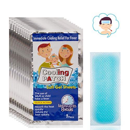 100 Beutel Kühlpflaster, Baby-Fieber-Daunen, medizinisches Pflaster, niedrigere Temperatur, Eisgel, Polymer-Hydrogel für Kopfschmerzen, Schmerzlinderung, bringt Fieber herunter, medizinisches Pflaster