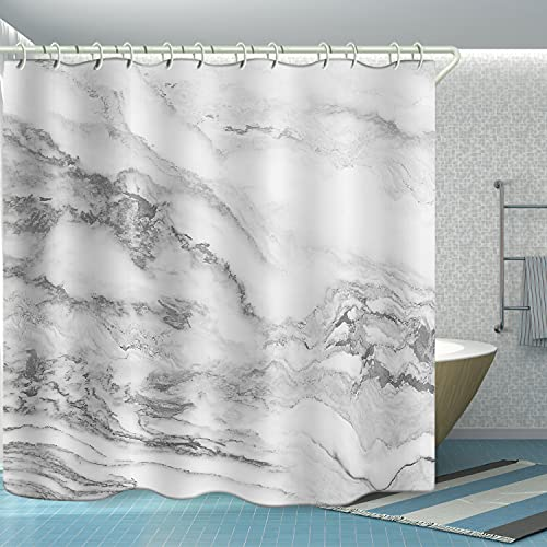 Shower Curtains Waterproof Durable Fabric for Home Bath,Beautiful Wide Shower Curtain Liner for Bathtub , Marble 3D Print Polyester Bathroom Accessories Bath Blind Set Hooks & Liners