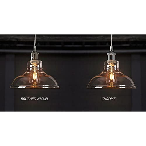 Edison 1 Ceiling Light Pendant Fixture By Fab Vintage Industrial Glass Lampshade Lighting With