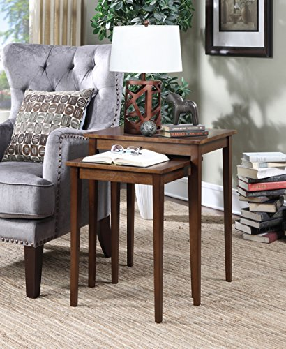 Convenience Concepts American Heritage Nesting End Tables, White