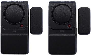 Venster of deursensor Deurvenster Alarm 2 Pack Magneet Getriggerde Indringer Intredure Sensor Alert Home inbreker (Color :...