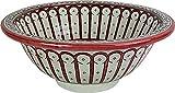 Orientalisches handbemaltes Keramik Waschbecken - Taza - Gemalt innen heraus Di 40 H 16 cm
