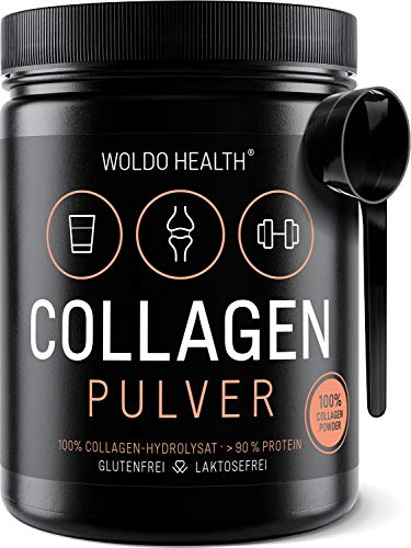 Kollagen Pulver aus Weidehaltung Hydrolysat Protein - wasserlöslich geschmacksneutral 500g inkl. Messlöffel