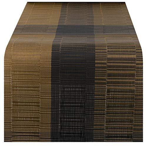 Nuovoware Camino de Mesa, 30 x 180 cm Premium Exquisite Tejido Resistente al Calor Antideslizante Textilene Decoracion de Corredor de Mesa para cocina y comedor, Bambu Cafe