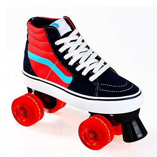 Pinkskattings@ Rollschuhe My First Quad Mädchen Mit Allen Rädern Leuchten Zweireihige Wheel Roller Classicroller Rollerskates Rollschuhe Artistic,37