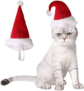 ANIAC Children Large Pet Costume Red Christmas Hat Pointed Xmas Cap for Kids Big Dogs¡