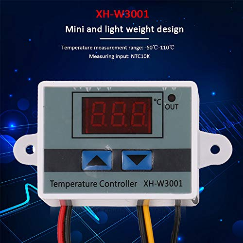 KKmoon XH-W3001 Temperaturregler mit LCD-Display, digital, Thermostat, Mikrocomputer, Thermoelement-Thermostat
