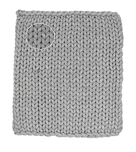 Braided Knot Baby Mat for Tummy Time  Cute Floor Cushion  Warm Comfy Toddler Blanket Gray