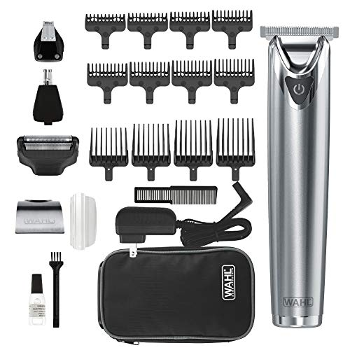 Wahl Stainless Steel Lithium Ion 2.0+ Slate Beard Trimmer for Men - Electric Shaver