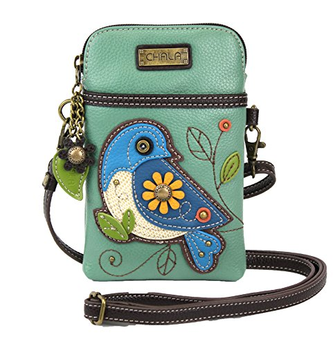Chala Crossbody Cell Phone Purse-Women PU Leather Multicolor Handbag with Adjustable Strap - Bluebird - Teal