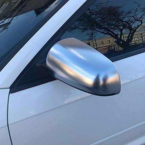 GIAO Cubierta del Espejo retrovisor Fit For Audi A4 B6 B7 A6 (2003-2007) S4 Cromo Mate De La Cubierta del Espejo Retrovisor del Espejo del Lado del Casquillo S Line Cubierta de retrovisor Lateral