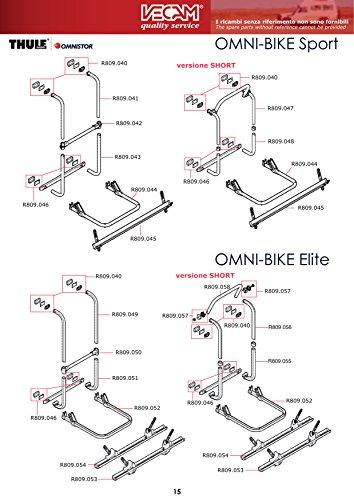 Vecam-Co Kit para fijación portabicicletas de caravana OMNI Bike Sport y Elite...