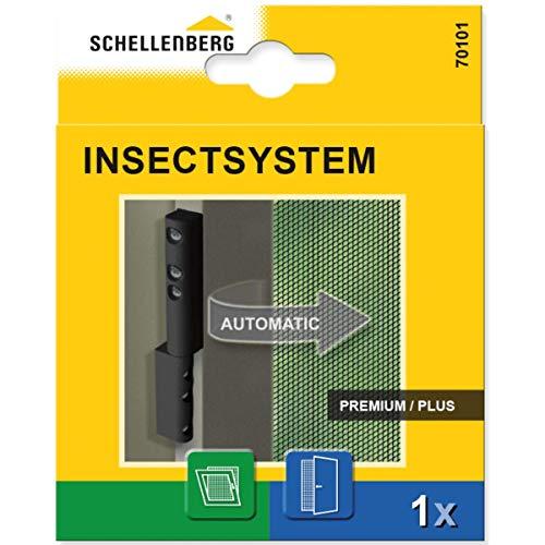 Schellenberg 70101 scharnieren met sluitveer voor insectenwerende deuren & ramen, antraciet