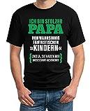 Geschenk für Vater - Ich Bin Stolzer Papa von Fantastischen Kindern T-Shirt Large Schwarz