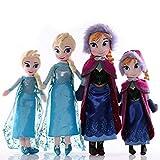 cgzlnl Muñeca De Peluche Frozen Anna Elsa, Juguetes Lindos para Niñas, Reina De La Nieve, Princesa Anna Elsa, Muñeca, Regalos De Cumpleaños para Niña, 4 Unids / Set 40 / 50Cm