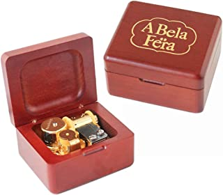 YouTang Beauty and The Beast Music Box Carved Wood Musical Box Wind Up Gold Mechanism Mucial Gift for Christmas,Birthday,Valentine's Day