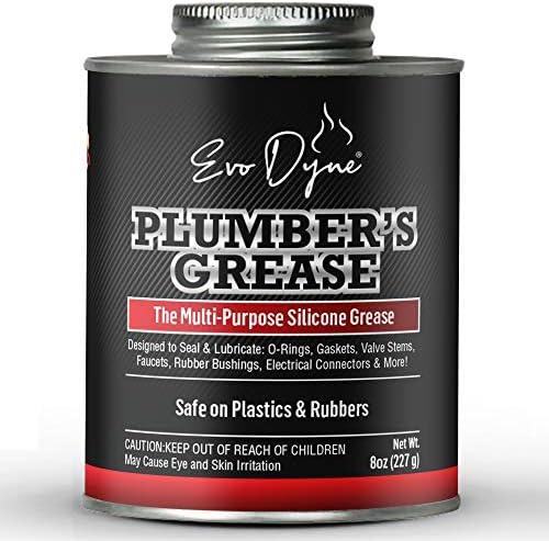 Evo Dyne Silicone Grease 8oz Made in USA Silicone Paste Multi Purpose Silicone Lube for Faucet product image