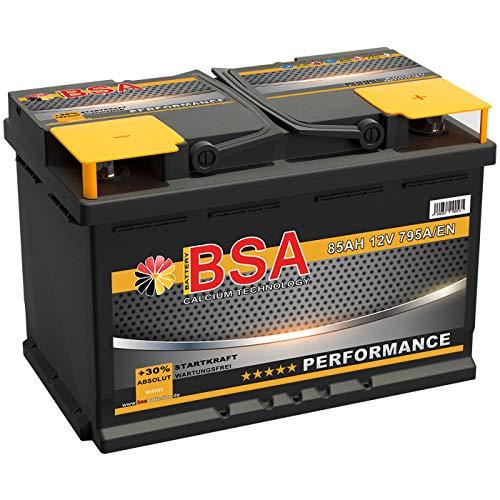 BSA Autobatterie 85Ah 12V Batterie 795A/EN ersetzt 70Ah 72Ah 74Ah 75Ah 77Ah 80Ah 82Ah 83Ah
