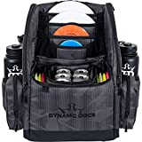 Dynamic Discs Commander Cooler Backpack Disc Golf Bag | 20 Disc Capacity | Two Deep Storage Pockets | Two Water Bottle Holders | Frisbee Disc Golf Backpack Bag (Graphite Hex Cooler)