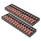 Himetsuya 2 piezas de ábaco de plástico de 13 filas, ábaco chino Vintage, herramienta de cálculo matemático para niños para calcular y calcular lecciones de matemáticas