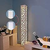 Lampadaire LED Dimmable Contrôle à Distance - ELINKUME Blanc PVC Graphiques Irréguliers Lampadaire d'intérieur Design Moderne Plus Lumineux 30W Éclairage à économie D'énergie
