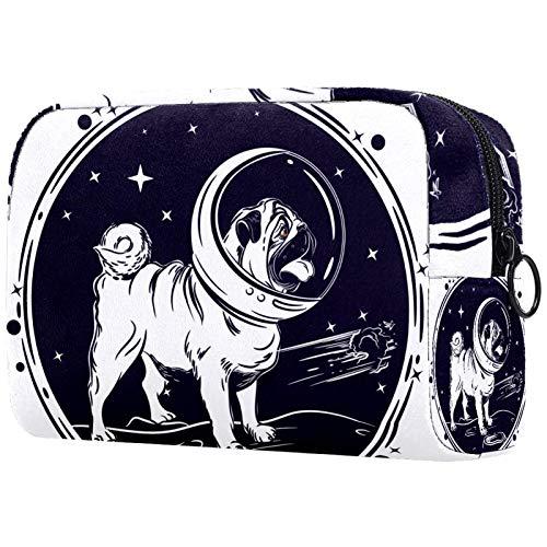 Borsa Cosmetica Space Dog Borsa di Trucco Borse Bagno Trucchi Cosmetici Organizzatore Beauty Astuccio Piccolo Porta Trucchi Trousse Makeup 18.5x7.5x13cm