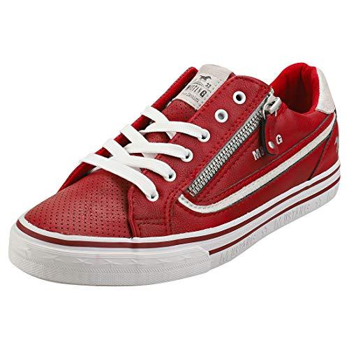 MUSTANG Shoes Sneaker in Übergrößen Rot 1354-304-5 große Damenschuhe, Größe:43