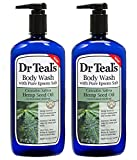 Dr Teal's Body Wash 2-Pack (48 Fl Oz Total) Hemp Seed Oil