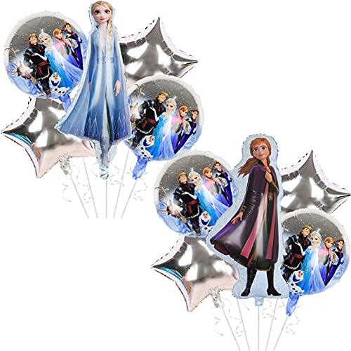 Decorazioni Feste Compleanno 47PCS Decorazioni Feste Compleanno Fiocchi Neve Decorazioni di Compleanno congelate Palloncini Frozen per Compleanno Sfondo di Festival Decorazione per Feste