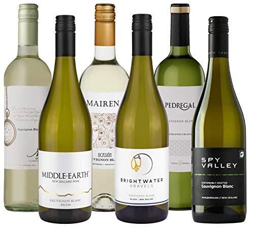 Atlantik Weine, Übersee Sauvignon Blanc Probierset, Weinpaket mit Weissweinen aus Neuseeland, Argentinien und Uruguay (6 x 0,75l)