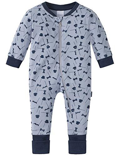 Schiesser Schiesser Baby-Jungen Zirkus Strong Boy Anzug mit Vario Fuß Zweiteiliger Schlafanzug, Grau (Hellgrau 204), 56 (Herstellergröße: 056)