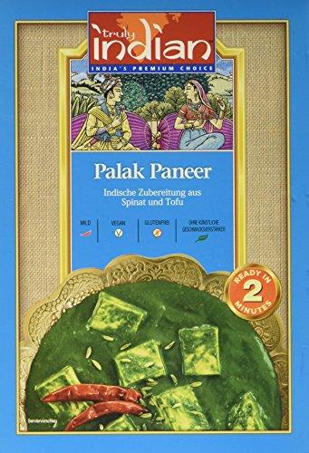 TRULY INDIAN Palak Paneer Kashmiri, Indisches Fertiggericht aus Spinat und Tofu (6 x 300 g)
