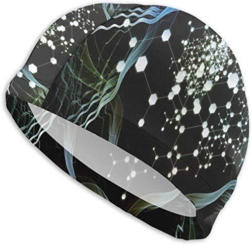 HFHY Texture Militaire Camouflage Tree Swim Cap Mens Spandex Swimming Bathing Cap Hat Super-Sleek Design/Optimum Comfort/Skin-Friendly/for Short and Long Hair/Extra Durability