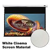 VIVIDSTORM Home Theater 8K/4K UHD Projection,Deluxe Tensioned Screen,Electric MotorizedDrop Down Projector Screen,100-inch Diag