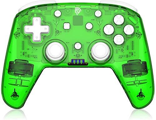 ZLZ Encargarse de Controlador inalámbrico, Controlador Pro Gaming, Gamepad Wireless Joypad Joystick, Compatible con Nintendo Switch/Switch Lite/PC Flexible (Color : Green)