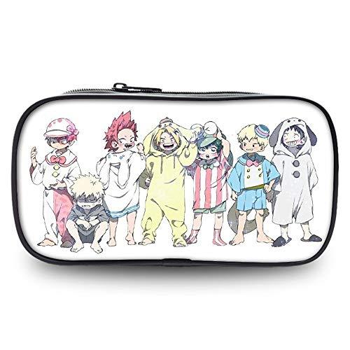 ZXJWZW My Hero Academia Pen Case 3D Anime Bilddruck Federmäppchen Studenten Schreibwaren Box Bleistiftbeutel Geldbeutel Mäppchen Große Kapazität Kosmetiktasche