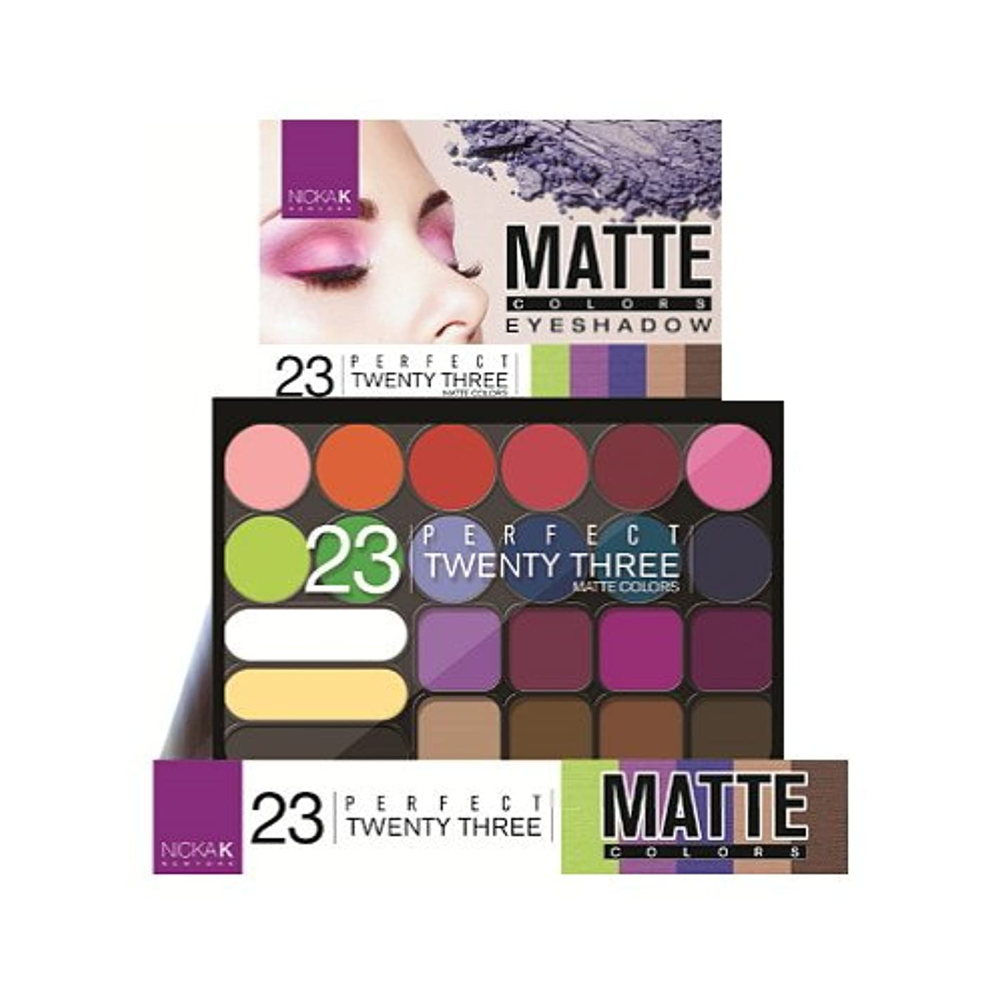 困った溶かす歩くNICKA K Perfect Twenty-Three Colors Matte Eyeshadow Palette Display Case Set 12 Pieces - 9A (並行輸入品)