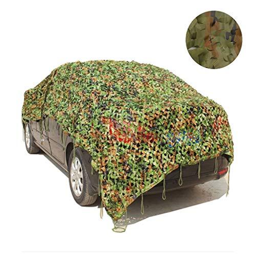 Qjifangzyp Camouflage Net Camo Netting Bescherming Netto Zonnekap Netto Zonnezeil Canopy Zonnescherm Tent Cover Tuin Terras Schaduw Leger Jacht Verborgen Paviljoen Carport 2x3m 4m 5m